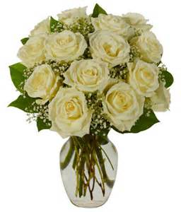Large Clear Vase White Roses Bouquet At From You Flowers