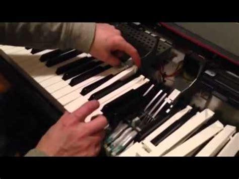 how to repair sticking piano keys on a yamaha clavinova