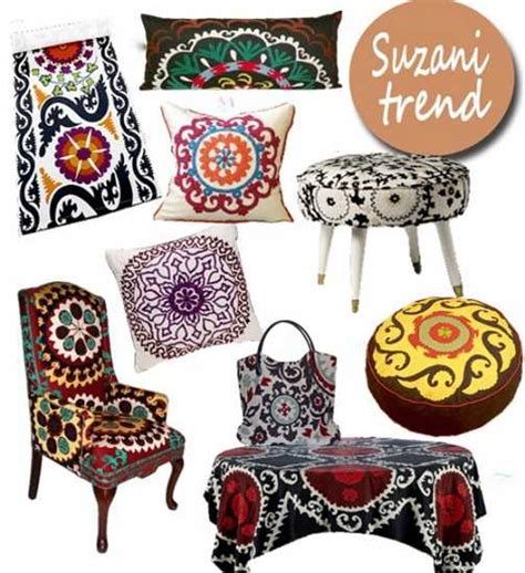 Neutral Upholstery Fabric Latest Trends In Decorating Suzani Textiles And Bold