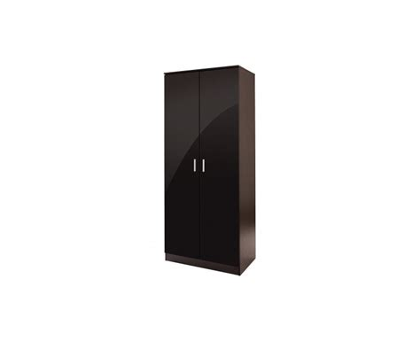 High Gloss Black Wardrobe by Madrid 2 Door Wardrobe High Gloss Black Door Black Frame