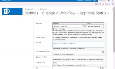 sharepoint workflow status document approval workflow in sharepoint 2013
