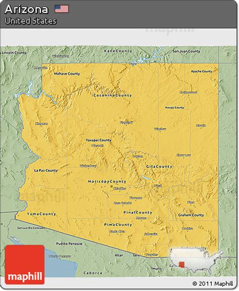 arizona united states map free savanna style 3d map of arizona