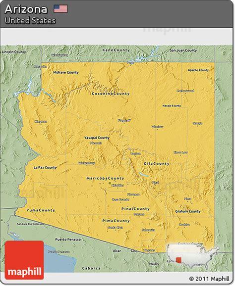 united states map arizona free savanna style 3d map of arizona