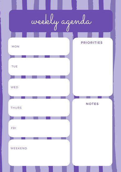 canva weekly planner customize 174 weekly schedule planner templates online