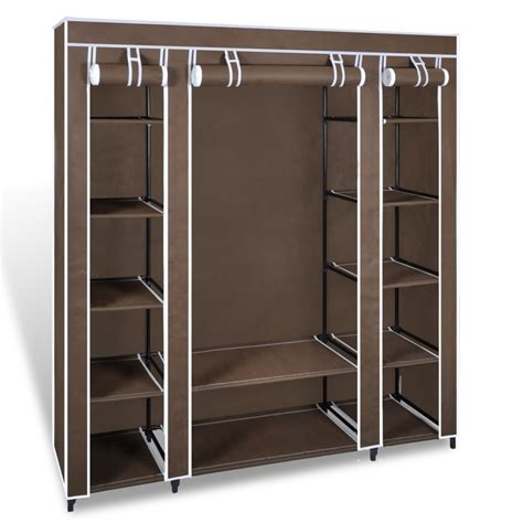 Portable Pantry Storage by Brown Portable Closet Fabric Cabinet Storage Organizer