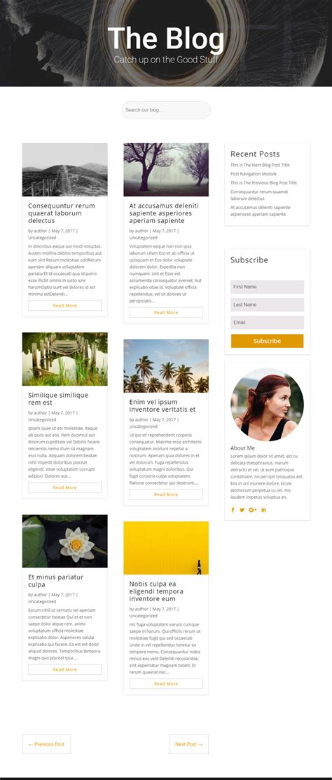 category blog layout module the divi blog module elegant themes documentation