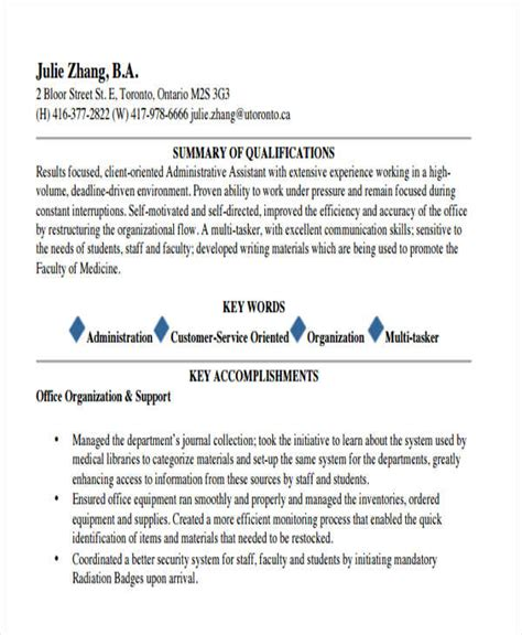 Marketing Administrative Assistant Resume Sle 30 simple marketing resume templates pdf doc free premium templates