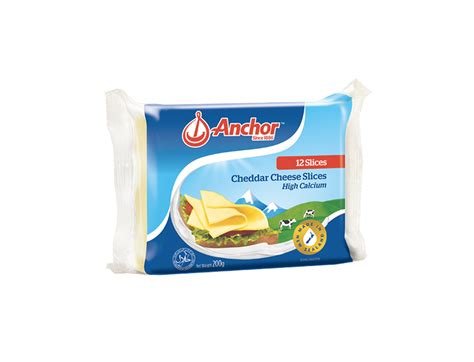 Anchor Processed Cheddar Cheese 84 Slices anchor 12 s processed cheddar cheese slices