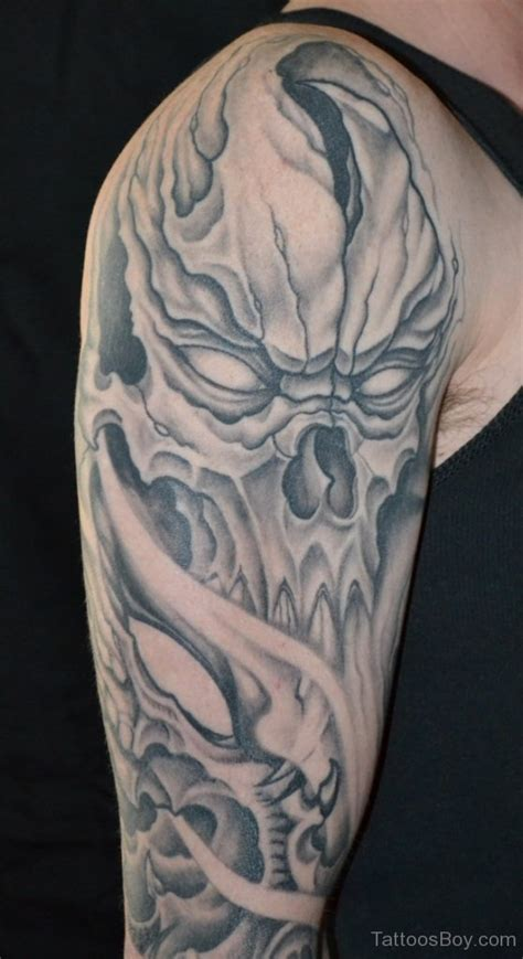 half sleeve skull tattoos skull tattoos designs pictures page 27