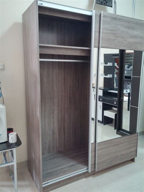 jual lemari pakaian dakota sliding door kaca xoxo furniture