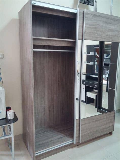 Lemari Kaca Di Bandung jual lemari pakaian dakota sliding door kaca xoxo