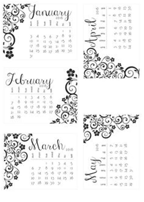 free printable black and white 2016 calendar templates