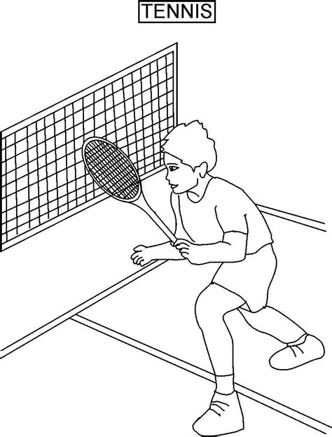 Tennis Coloring Printable Page For Kids Tennis Coloring Pages