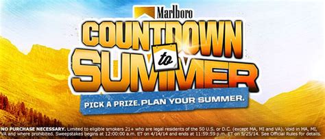Marlboro Giveaway - marlboro countdown to summer giveaway 6 150 winners win boom boxes grill sets
