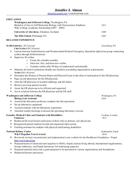 Scribe Resume by Sle Cover Letter For Scribe Kingessays Web
