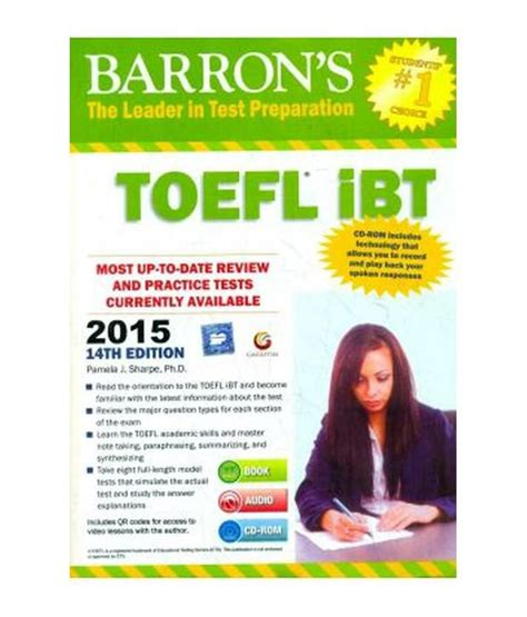 Official Toefl Ibt Tests Vol 1 barrons toefl ibt based test available at