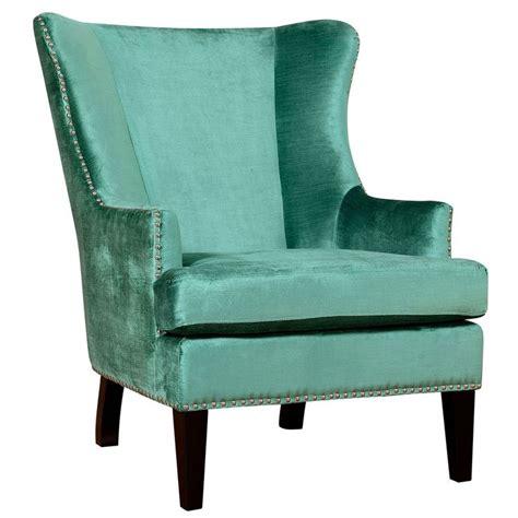 Velvet Wingback Chair by Soho Turquoise Velvet Wing Chair
