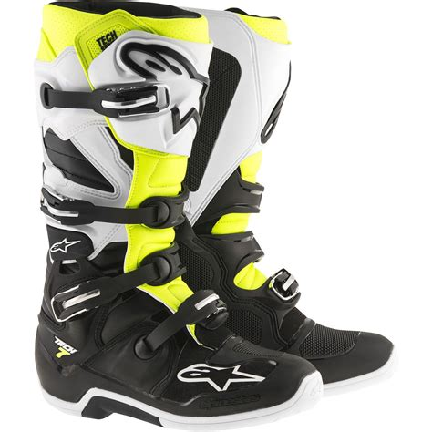 Alpinestars Tech 7 Dewasa alpinestars 2017 tech 7 black white fluro yellow boots mxstore picks protective gear