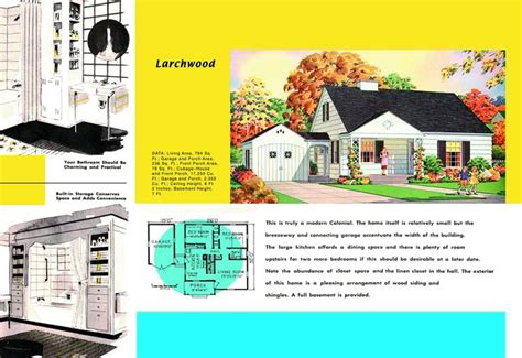 1940s and 50s house plans larchwood houses and floor