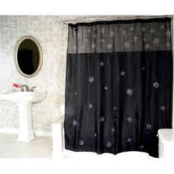 Black Bathroom Curtains Home Design Black Shower Curtain