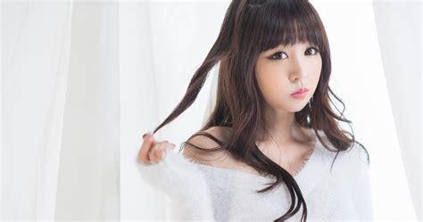 lovely white hong ji yeon lovely fluffy white korean models photos