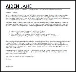 science cover letter exles forensic scientist cover letter sle livecareer