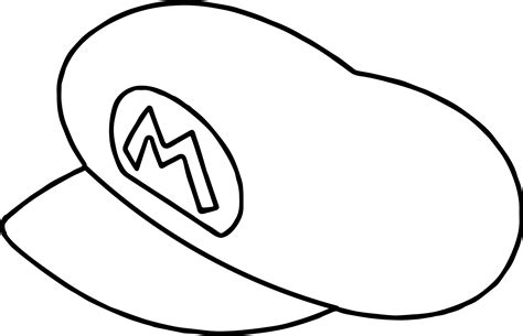 Super Mario Hat Outline Coloring Page Coloring Page Hat To Color