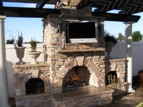 Custom Outdoor Kitchen Designs Custom Outdoor Kitchen And Fireplace Traditional Patio