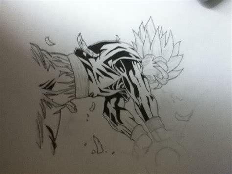 imagenes de goku en blanco y negro dibujo propio de goku en blanco y negro arte taringa
