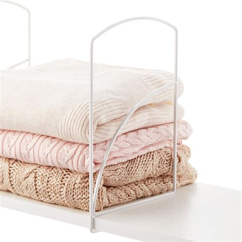 Container Store Shelf Dividers by Lynk Solid Shelf Dividers The Container Store