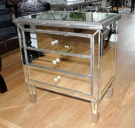 Mirrored chest side table 28 quot x30 quot h d 233 cor and accessories for the