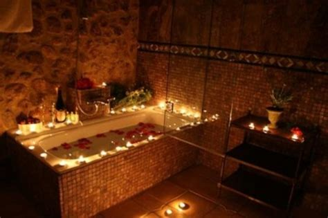 bathtub candles beautiful bathroom with elegant candles