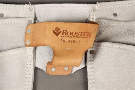 rooster leather carpenter tool belt w nail pouch
