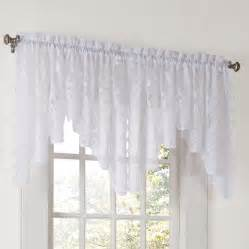 curtain rod valance no 918 alison floral sheer lace rod pocket curtain
