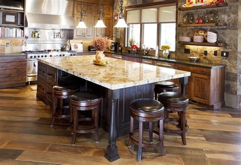 Country Kitchen Islands With Seating Rustic Kitchen