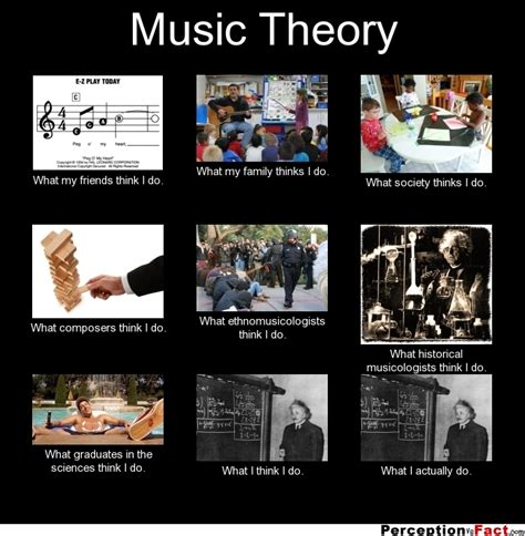 Music Theory Memes - music theory what people think i do what i really do
