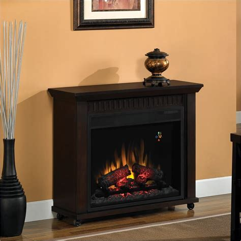 chimney free fireplace classic chimney free rolling electric fireplace ebay