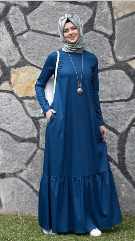 Dress Khimar Denim modest flare abaya designs for all styling style fashion ideas