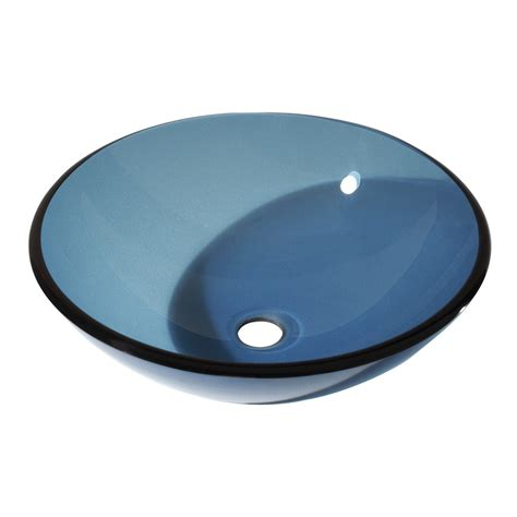 blue bathroom sinks shop avanity blue tempered glass vessel round bathroom