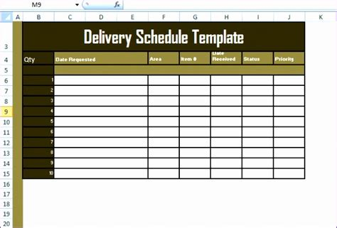 truck delivery schedule template charming delivery schedule template images exle