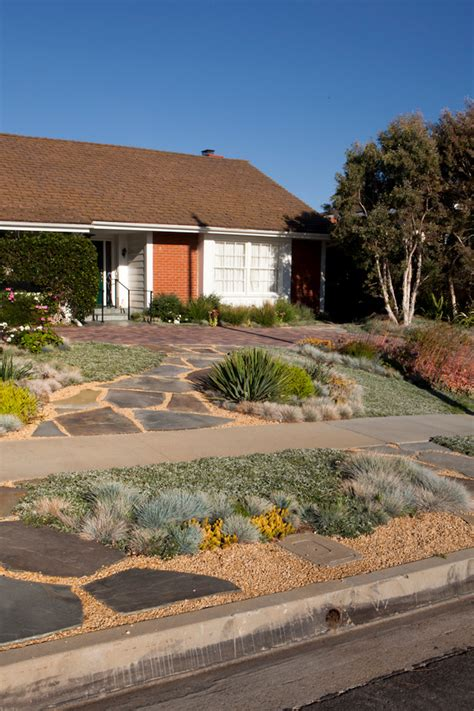 front yard l post front yard landscape traditional with concrete sidewalk