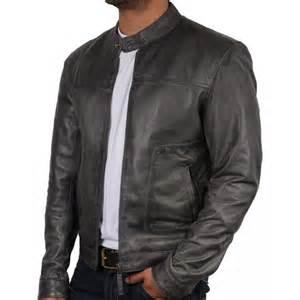 Leather Jacket Mens S Grey Leather Jacket Asasin