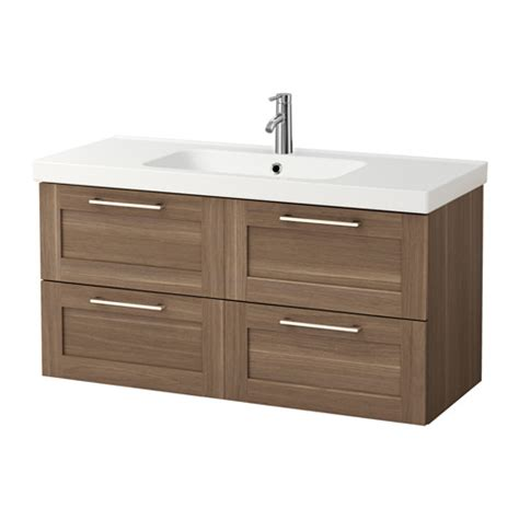 Sink Drawers by Godmorgon Odensvik Sink Cabinet With 4 Drawers Walnut