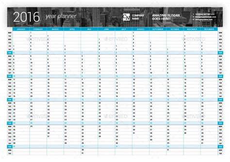printable vertical year planner 2016 year planner 2018 by mikhailmorosin graphicriver