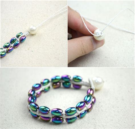Exclusive Diy Jewelry Crafts Bracelet Out Of String And Beads · How To Braid A Braided Bead