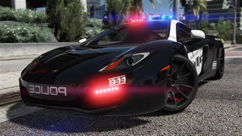 police mclaren mclaren mp4 12c pursuit police add on replace