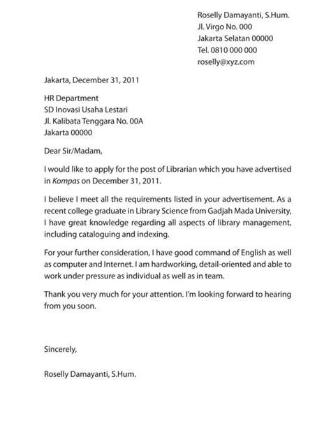 31 Contoh Surat Lamaran Kerja Bahasa Inggris Lengkap Untuk