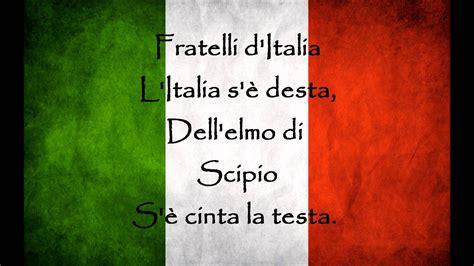 la italia testo himno de italia letra testo