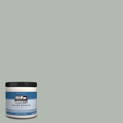 behr premium plus ultra 8 oz ppu12 15 atmospheric interior exterior satin enamel paint sle