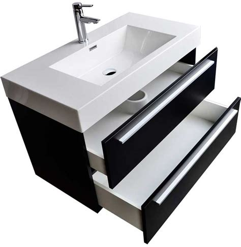 wall mount contemporary bathroom vanity black tn m900 bk